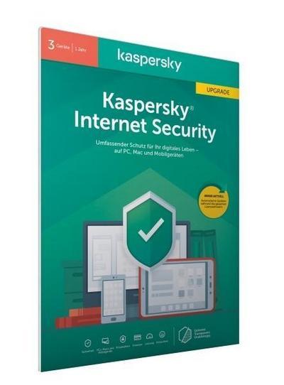 Kaspersky Internet Security 3 Geräte Upgrade (Code in a Box) (FFP). Für Windows 7/8/10/MAC/Android