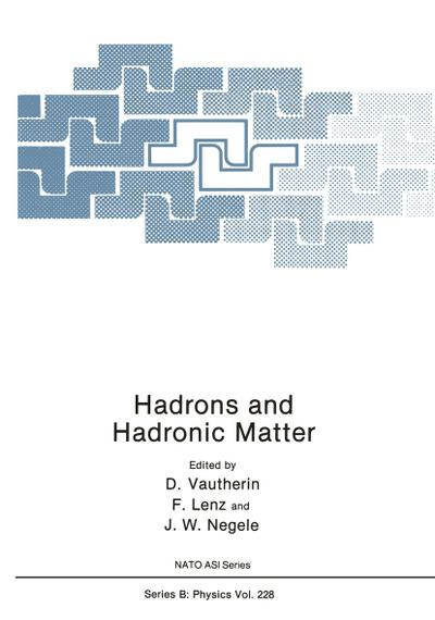 Hadrons and Hadronic Matter