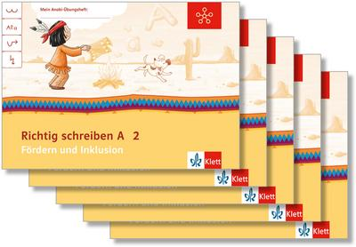 Mein Indianerheft. Richtig schreiben A. Fördern und Inklusion. Arbeitsheft Klasse 2 (5-er Paket)