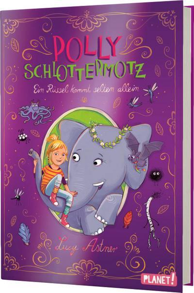 Polly Schlottermotz 2: Ein Rüssel kommt selten allein; Polly Schlottermotz; Ill. v. Hänsch, Lisa; Deutsch; schwarz-weiße Illustrationen