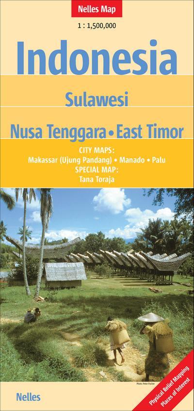 Nelles Maps Indonesia - Sulawesi, Nusa Tenggara, East Timor
