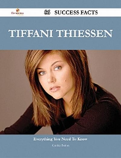 Tiffani Thiessen 86 Success Facts - Everything you need to know about Tiffani Thiessen