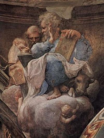 Correggio - Gewölbezwickel, Hl. Lucas und Hl. Ambrosius - 200 Teile (Puzzle)