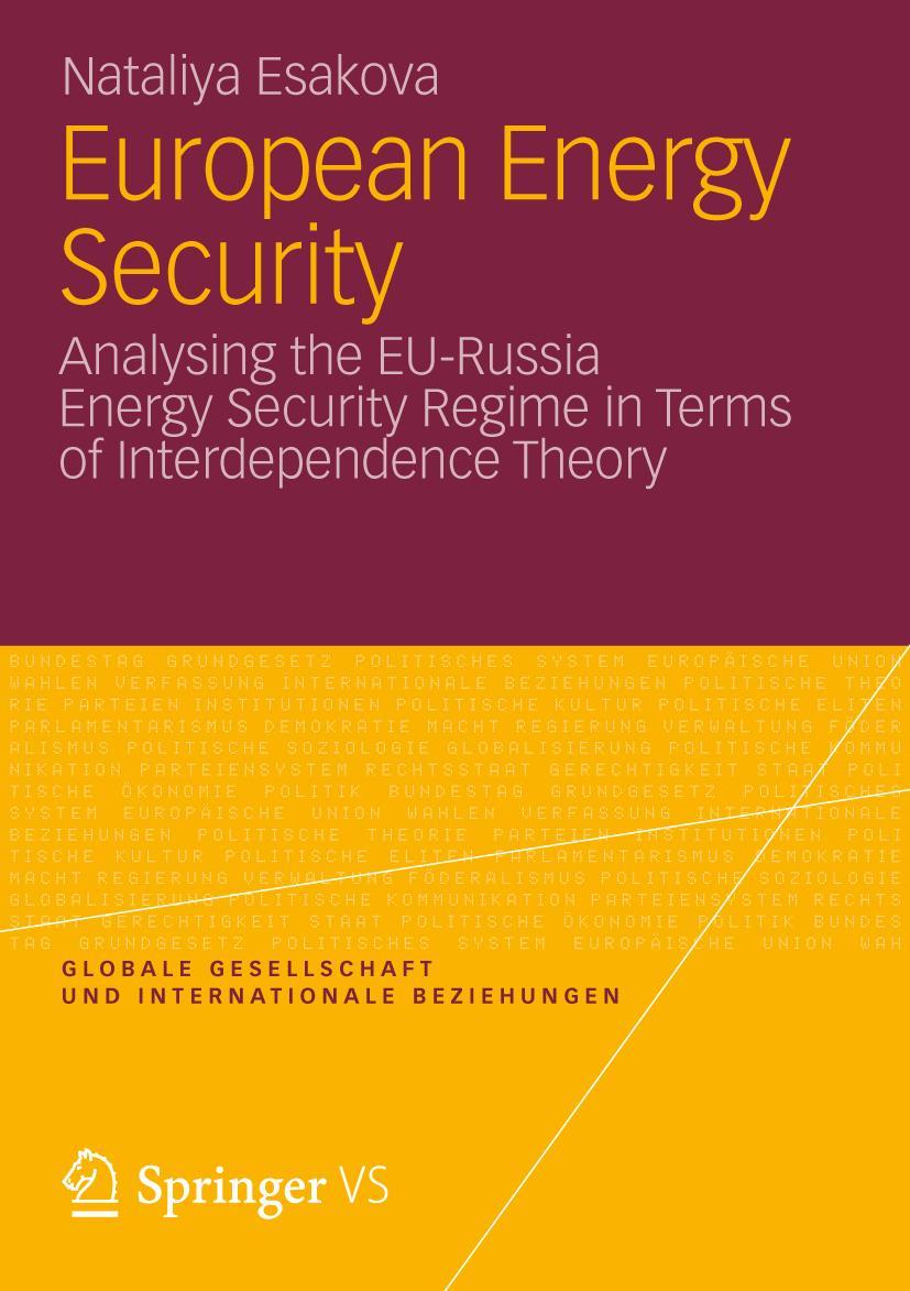 European Energy Security, Nataliya Esakova