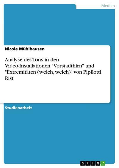 Analyse des Tons in den Video-Installationen 'Vorstadthirn' und 'Extremitäten (weich, weich)' von Pipilotti Rist