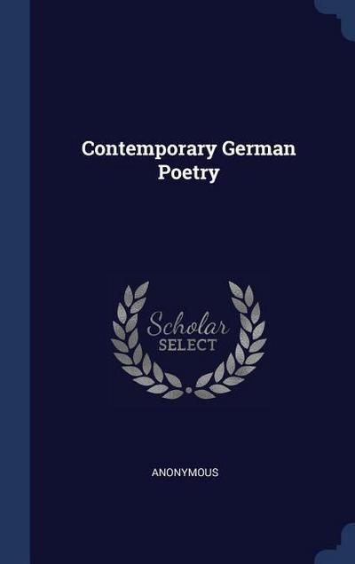 Contemporary German Poetry