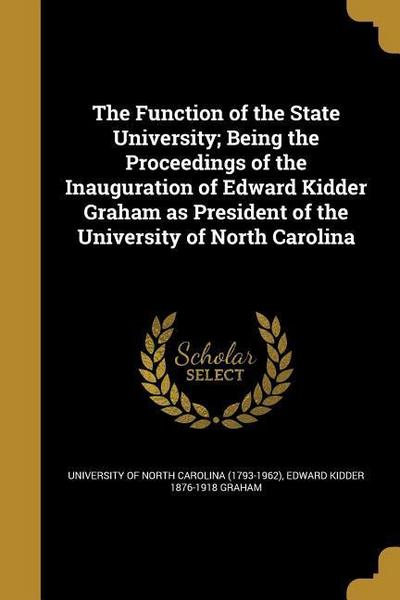 FUNCTION OF THE STATE UNIV BEI