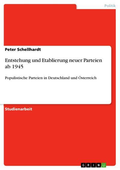 Entstehung und Etablierung neuer Parteien ab 1945