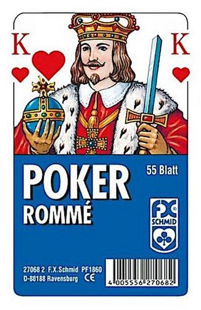 Poker / Rommé, Französisches Bild (Spielkarten)