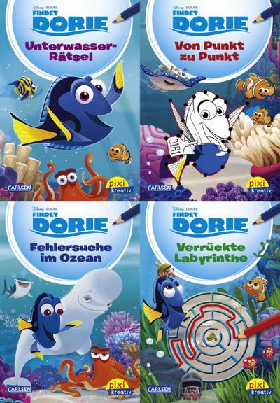 Pixi kreativ Serie Nr. 23: 4er Bundle: Disney: Findet Dorie