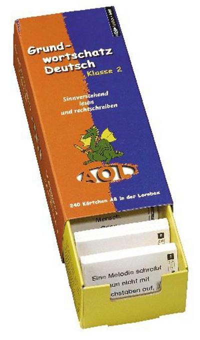 Grundwortschatz Deutsch, Klasse 2, m. Lernbox