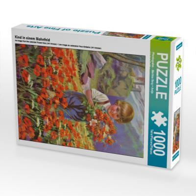 Kind in einem Mohnfeld (Puzzle)