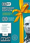 ESET Birthday Edition V2018 (2x ESET Inter.Security + 1x ESET Mobile Security) (FFP). Für Windows Vista/7/8/10/MAC/Linux/Android