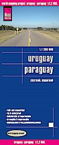 Reise Know-How Landkarte Uruguay, Paraguay  1 ...