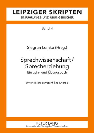 Sprechwissenschaft/Sprecherziehung