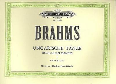 Ungarische Tänze Band 1 WoO1  (Nr.1-10) : für Klavier zu  4 Händen