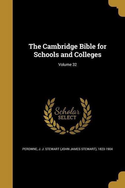 CAMBRIDGE BIBLE FOR SCHOOLS &