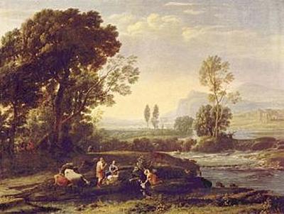 Claude Lorrain - Landschaft mit der Flucht nach Ägypten - 100 Teile (Puzzle)
