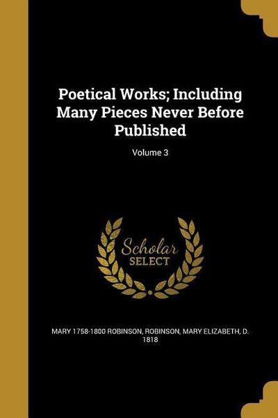POETICAL WORKS INCLUDING MANY
