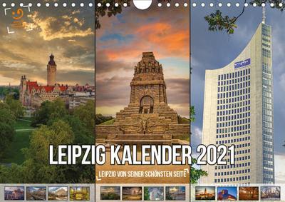 """Leipzig Kalender 2021 """" Leipzig von seiner schönsten Seite"""" (Wandkalender 2021 DIN A4 quer)"""