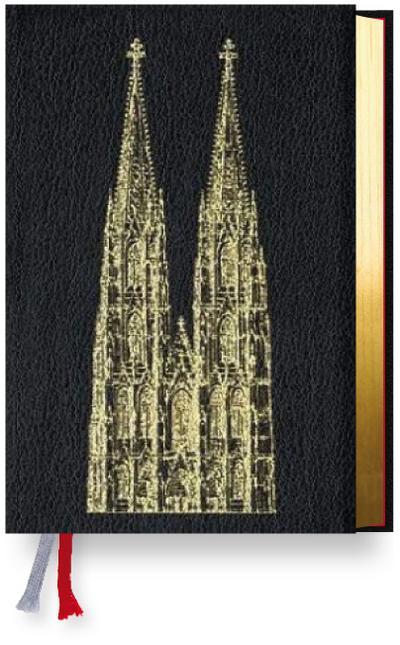 Gotteslob Erzbistum Köln. Rindleder schwarz, Goldschnitt, Domprägung