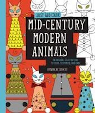 Mid-Century Modern Animals: 30 Original Illustrations to Color, Customize, and Hang