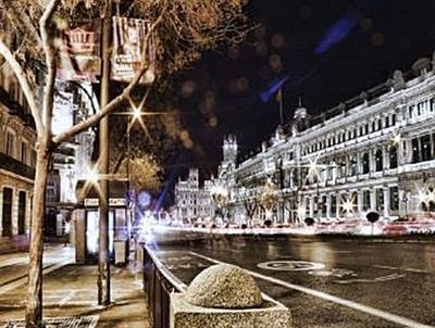 Madrid bei Nacht - 500 Teile (Puzzle)