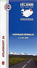 Island Atlaskort 28 Vopnafjördur 1:100.000