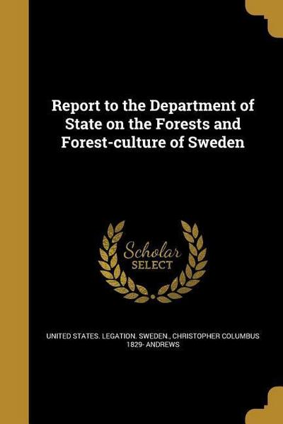 REPORT TO THE DEPT OF STATE ON