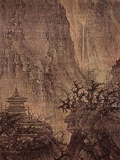 Chinesischer Maler des 11. Jahrhunderts (I) - Buddhistischer Tempel in den Bergen - 200 Teile (Puzzle)