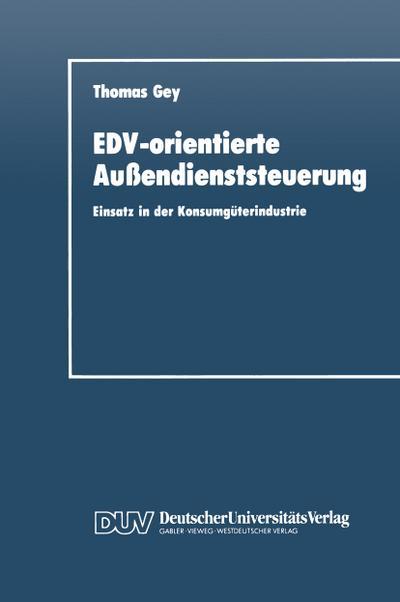 EDV-orientierte Außendienststeuerung