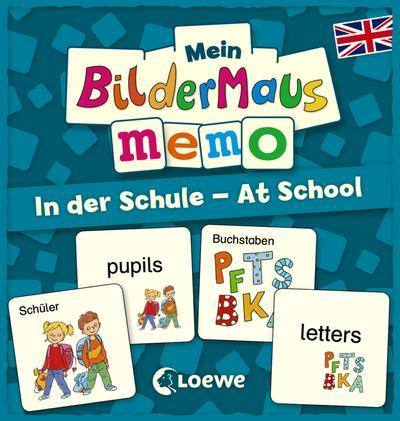 Mein Bildermaus-Memo - Englisch - In der Schule - At School (Kinderspiel)