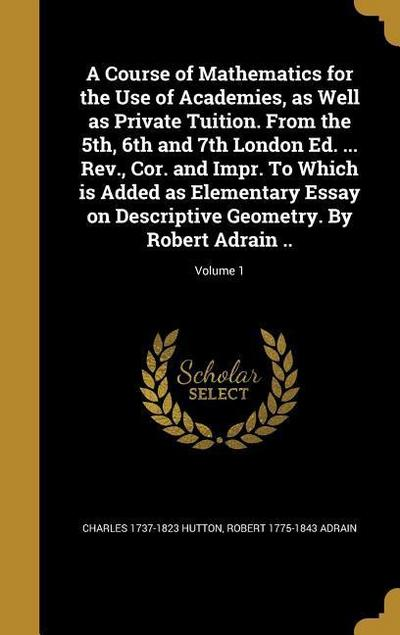 COURSE OF MATHEMATICS FOR THE