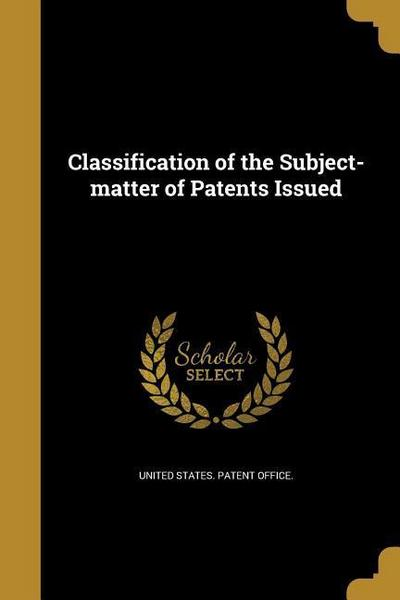 CLASSIFICATION OF THE SUBJECT-