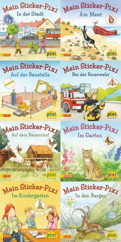 Pixi-8er-Set 199: Meine Sticker-Pixis (8x1 Exemplar)