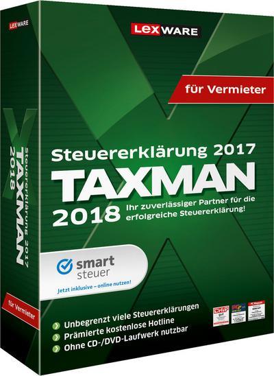 TAXMAN 2018 für Vermieter, 1 CD-ROM