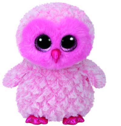 Twiggy, Eule pink/weiß 24cm