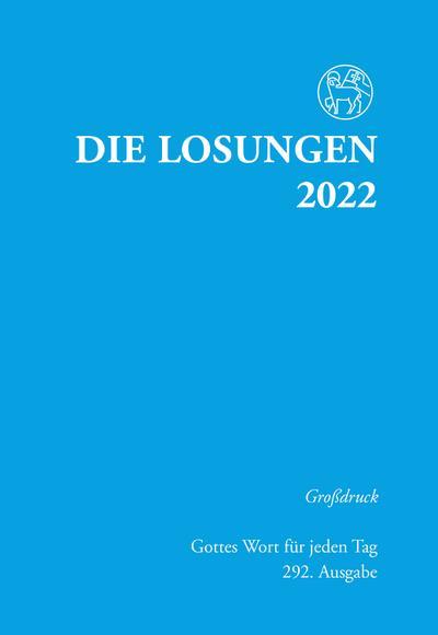 Die Losungen für Deutschland 2022 - Grossdruck, kartoniert
