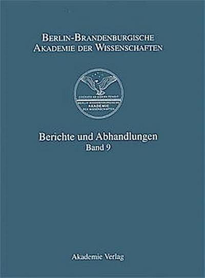 Berichte und Abhandlungen: Band 9 [Gebundene Ausgabe] by unbekannt