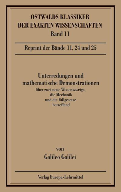 Unterredungen und mathematische Demonstrationen