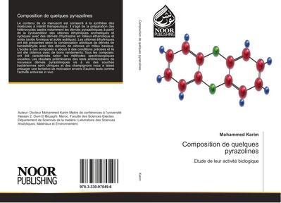 Composition de quelques pyrazolines
