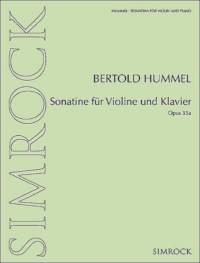 Sonatine op.35afür Violine und Klavier