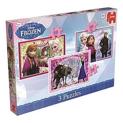 Disney Frozen - 3in1 Puzzle: 3 x 50 Teile
