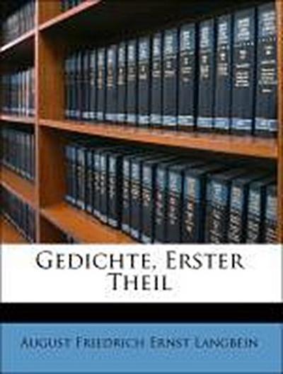 Gedichte, Erster Theil