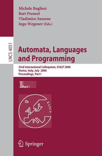 Automata, Languages and Programming 2006 / 1