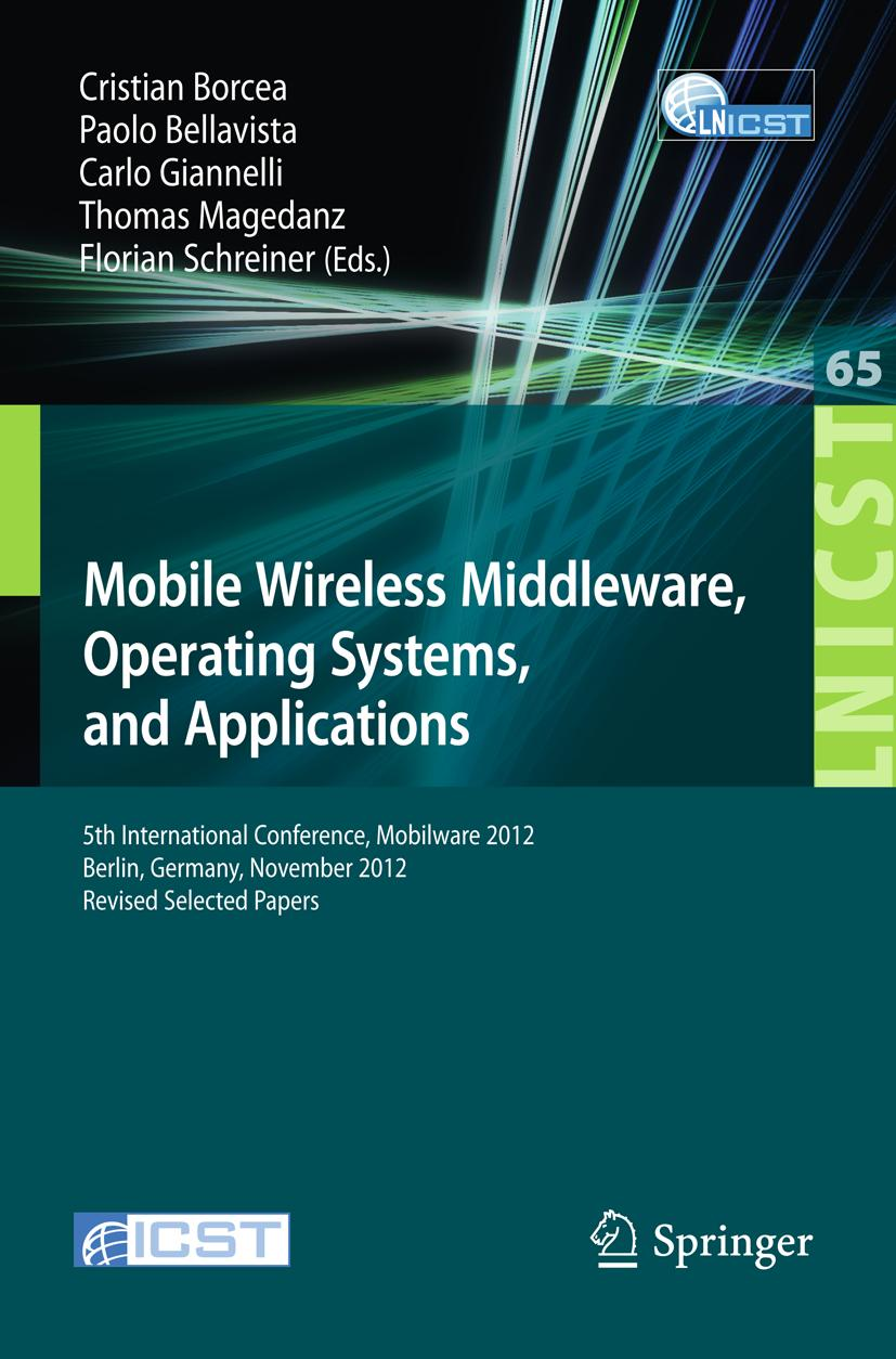 Paolo Bellavista / Mobile Wireless Middleware, Operating Sys ... 9783642366598