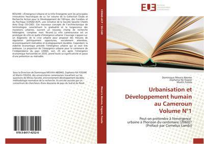Urbanisation et Développement humain au Cameroun Volume N°1