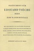 Festschrift für Edouard Tieche