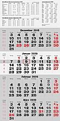 rido Viermonats Wandkalender 2019 quattroplan 2