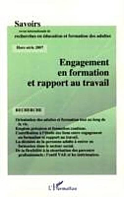 Engagement en formation et rapport trava